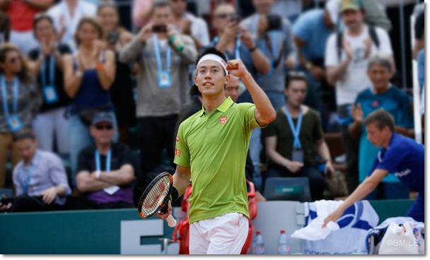 全仏オープン2016 錦織圭 4回戦 トップ
