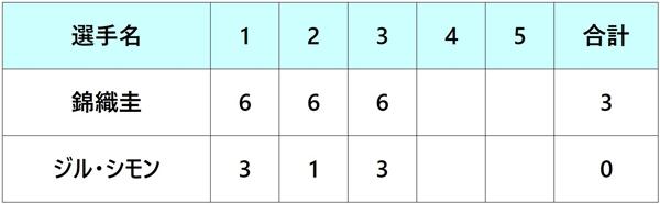 全仏オープン2018 錦織圭 3回戦