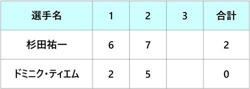 ゲリーウェバーオープン2018 杉田祐一 2回戦