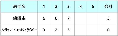 全米オープン2018 錦織圭 4回戦
